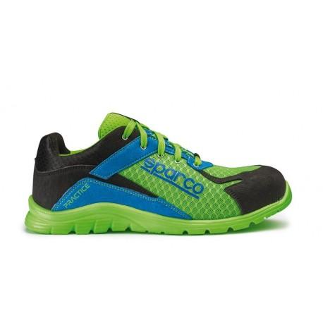 Zapato SPARCO Practice Verde Fluor